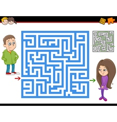 Maze or labyrinth activity game vector