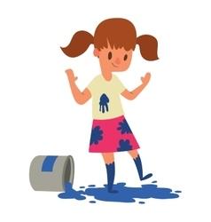 Artist kid children character vector