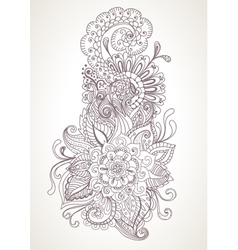 Floral orient ornament vector