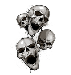 Decrepit skulls vector image