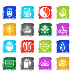 Beauty and spa icon set vector