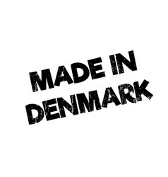 Made in denmark rubber stamp vector