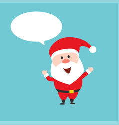 Happy santa claus character with speech bubble vector