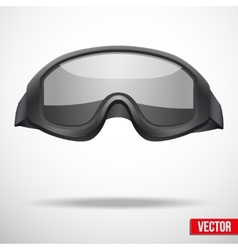 Military black goggles vector