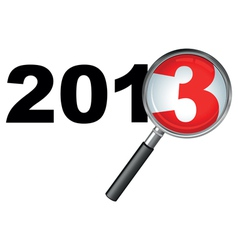 2013 magnifying glass vector image vector image