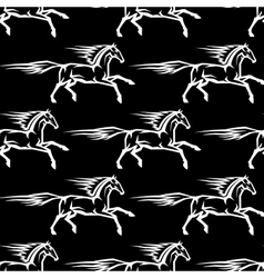 Seamless pattern of horse stallions vector