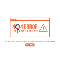 404 error design template 404 page is not found vector image