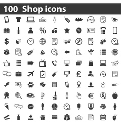 100 shop icons set vector