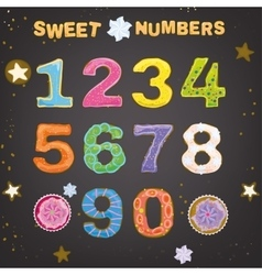 Sweet handdrawn numbers vector