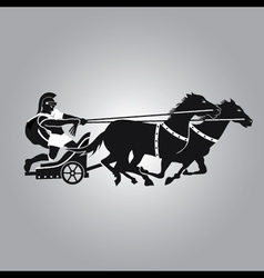 Chariot with horses vector