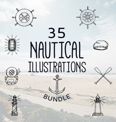 35 nautical bundle vector