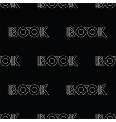 Black seamless pattern with symbol of the book vector