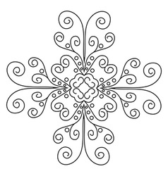Lace pattern mandala vector