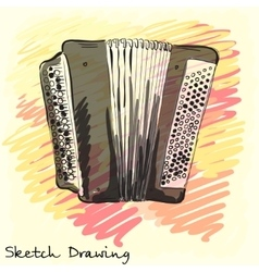 Musical instrument classical bayan accordion vector