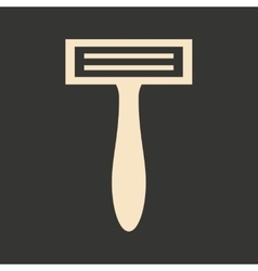Flat in black and white mobile application shaving vector