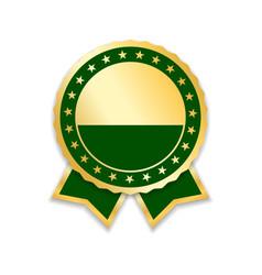 award ribbon gold vector image vector image