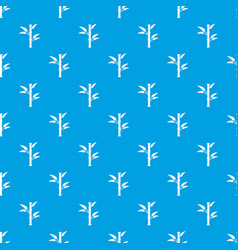 Bamboo pattern seamless blue vector