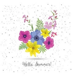 Beautiful greeting card with flowers vector