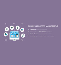 business process management system vector image vector image