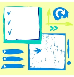 Checklist and symbol vector image vector image