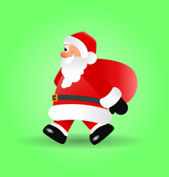 christmas of santa claus vector image