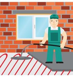 Construction tools pattern trowel level constructi vector