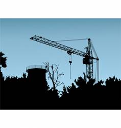 Crane construction site vector