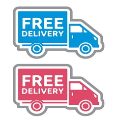 Delivery truck4 vector image vector image