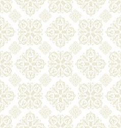 Floral wallpaper beige tile vector