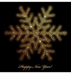 Glowing snowflake vector