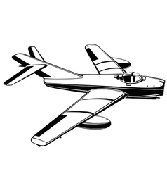 jet airplane1 vector image