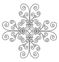 Lace pattern mandala vector
