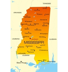 Mississippi vector image vector image