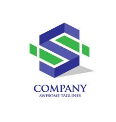 Modern letter s logo vector
