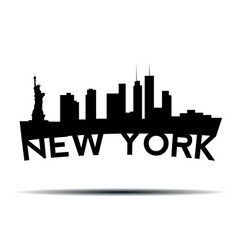 New york cityscape vector