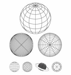 outline globe vector image