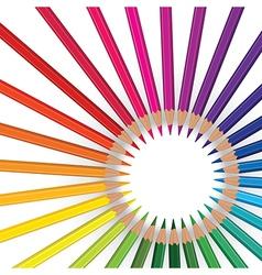 pencils round9 vector image vector image