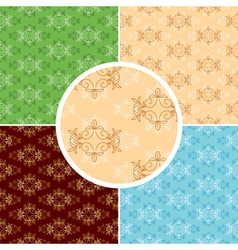 set of floral seamless textures for backgrounds vector image