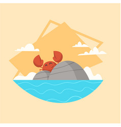 summer vacation sea landscape icon beautiful vector image