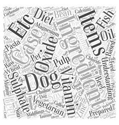 Understanding ingredients word cloud concept vector