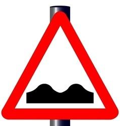 Uneven roadtraffic sign vector