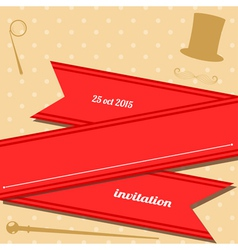 Vintage club invitation vector