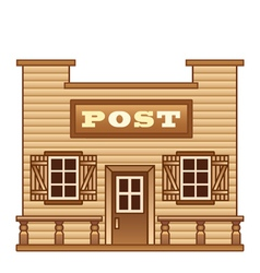 Wild West Post office vector image vector image
