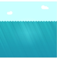 Underwater scene  deep under vector