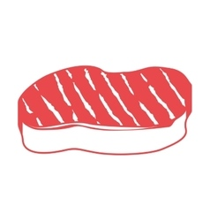 Steak meat icon vector