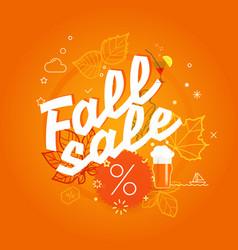 Fall sale season sale concept vector