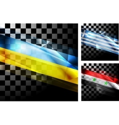 Concept design of flags vector image