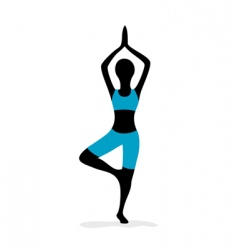 Yoga girl vector
