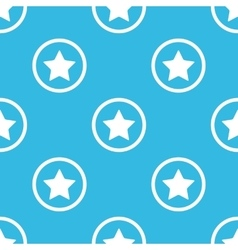 Star sign blue pattern vector