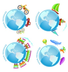 Voyage around the world vector
